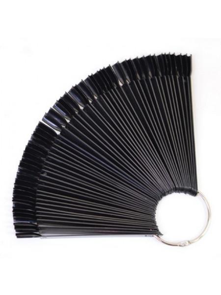 Палитра веерная для ногтей (ЧЕРНАЯ) на 50 оттенков