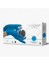 Перчатки термопластичный эластомер BENOVY, XL, голубые, 200штук/100пар
