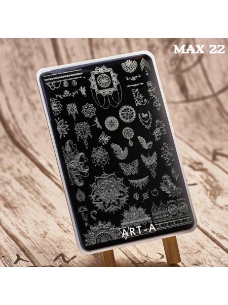 Пластина для стемпинга Art-A MAX 22-09